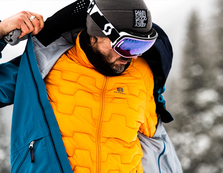 Elevenate men's ski wear Vail